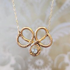 Victorian Knot Necklace with White Sapphire