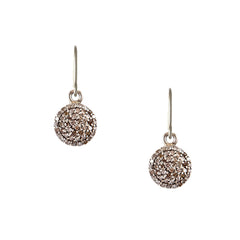 Pavé Diamond Disc Earrings