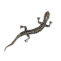 Art Deco Marcasite Lizard Pin