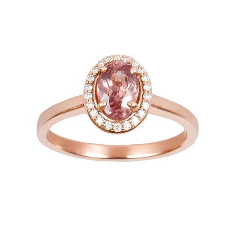 Rose Gold and Morganite Halo