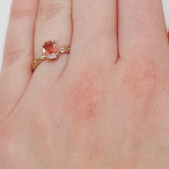 Morganite Vine Engagement Ring