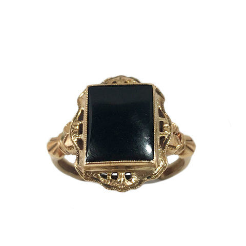 Victorian Onyx Frame Ring