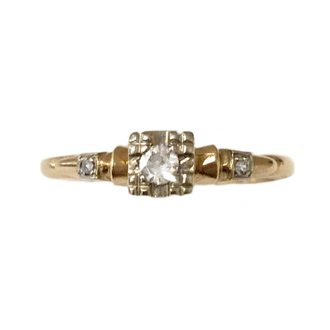 Deco Petite Diamond Illusion Ring