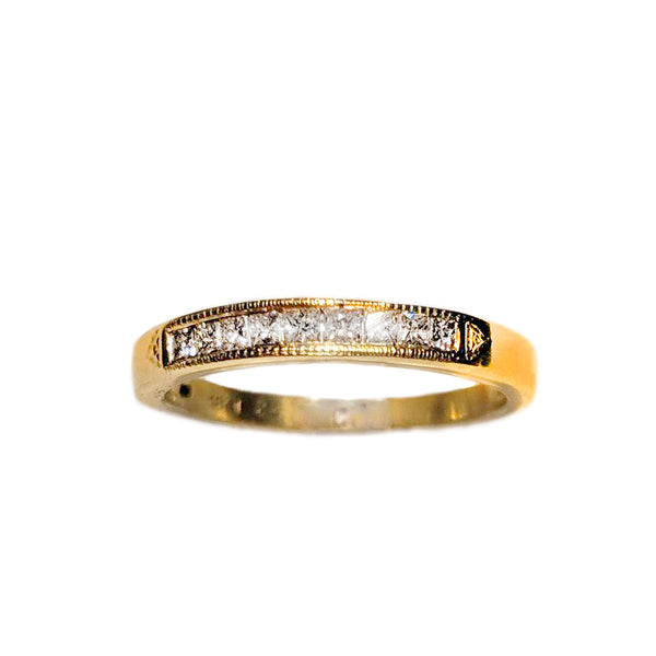 Estate Princess-Cut Diamond Band