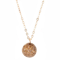 Pavé Disc Necklace