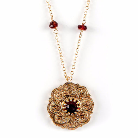 Gypsy Pendant with Gem