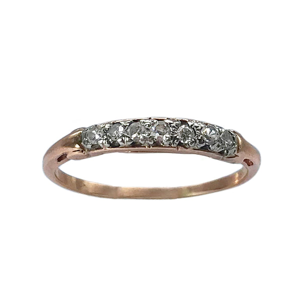 Victorian Rose Gold Diamond Top Band