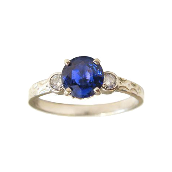 Sapphire and Diamond Tying The Knot Ring