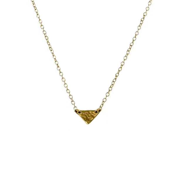 Single Hammered Triangle Necklace