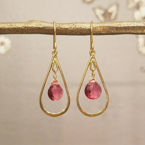 Teardrop With Briolette Earrings