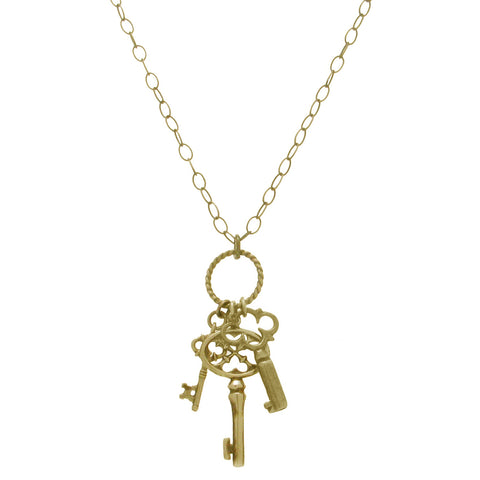 40% Off! Gold Vermeil Three Key Necklace