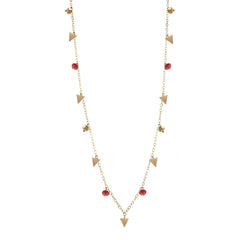 40% Off! Triangle Simple Chain with Garnet