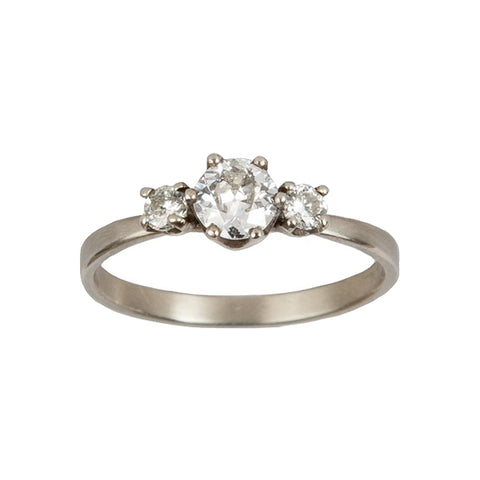 Diamond Trio Engagement Ring