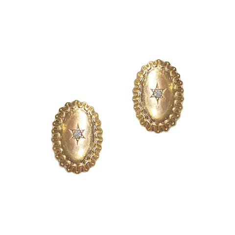 Victorian Oval Twinkle Earrings