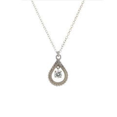 14k Small Diamond Teardrop Necklace