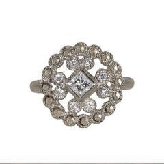 Lace Cast Diamond Ring