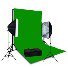 1600 Watt Continuous Photo/Video Green Screen 2 Light Softbox Kit