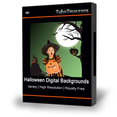 Halloween Digital Backgrounds and Overlays