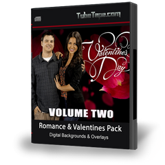 Romance & Valentines Pack Digital Backgrounds Volume II