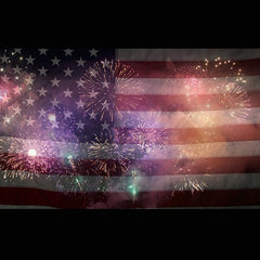 Flag Fireworks Digital Background