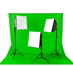 2400 Watt Continuous Photo/Video Green Screen 3 Light Softbox Kit