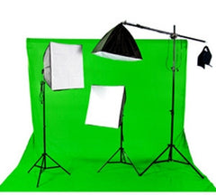 3300 Watt Continuous Photo/Video Green Screen 3 Light Softbox Kit with Boom