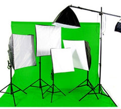 4900 Watt Continuous Photo/Video Green Screen Studio 5 Light Softbox Kit with Boom