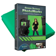 PhotoWorks Green Screen Photo Software + FREE 5x7 Backdrop