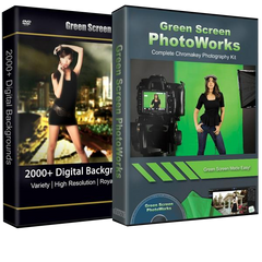 PhotoWorks Green Screen Photo Software + 2000 Backgrounds