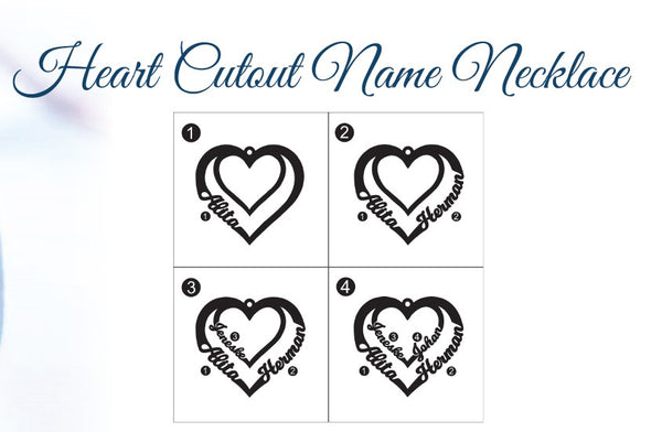 Heart Cutout Name Necklace