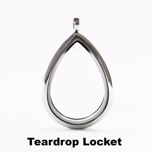 Silver Teardrop Locket