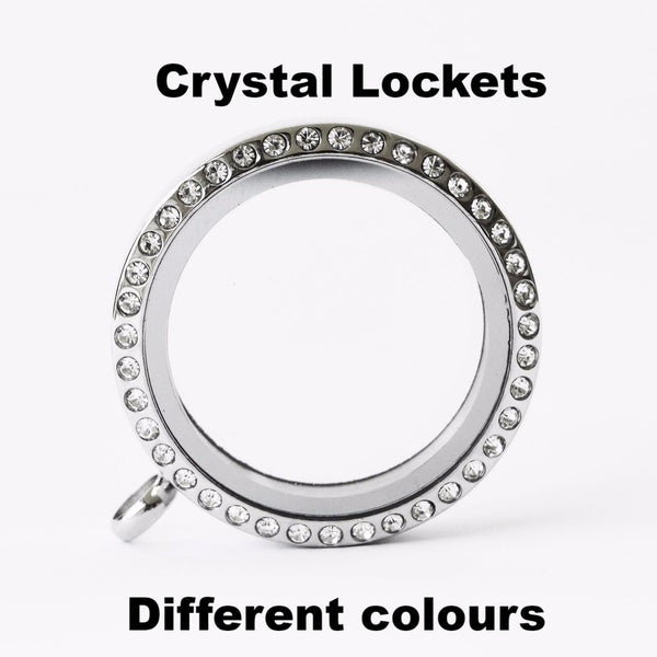 Crystal Lockets 30mm