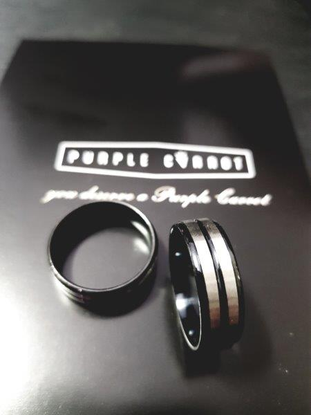 Christmas Male rings Black and silver