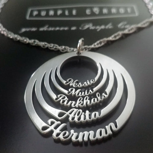 Circle Cutout Name Necklace