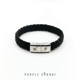 Leather clip bracelet