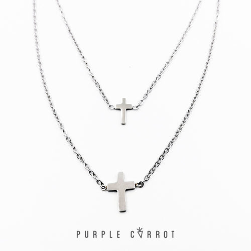 Double cross necklace Black Friday