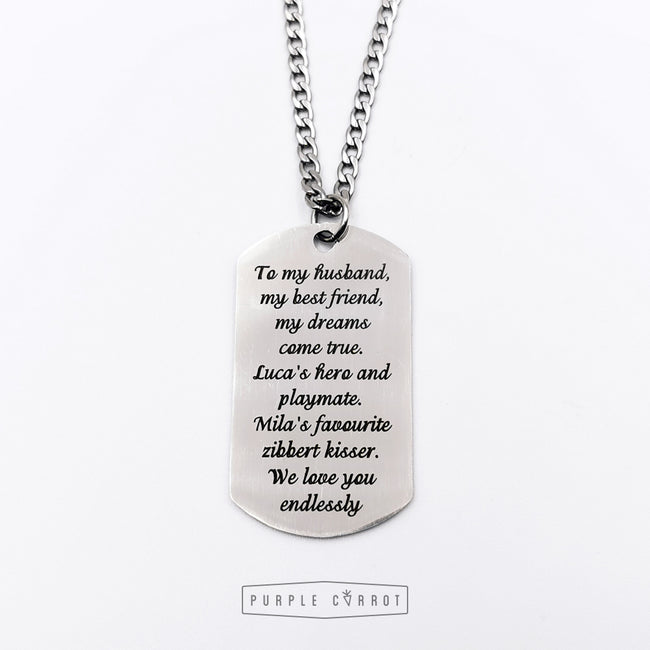 Special Wording Dogtag