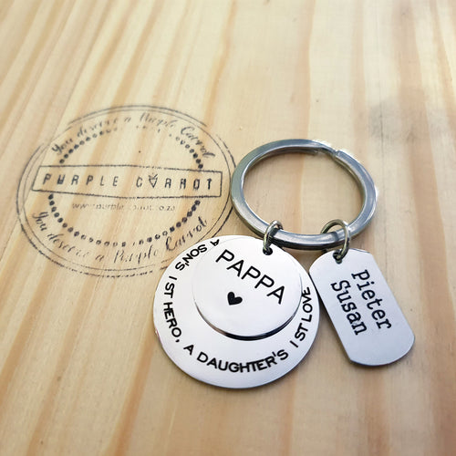 A daughter's first love Father Keychain