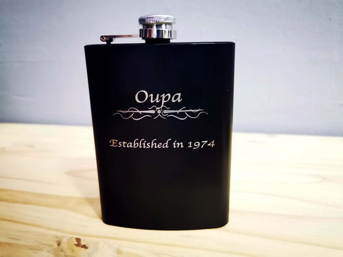 Memory Flask with Engraving