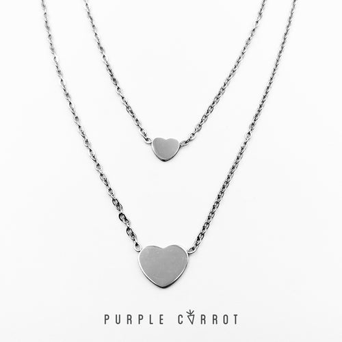 Double heart necklace Black Friday
