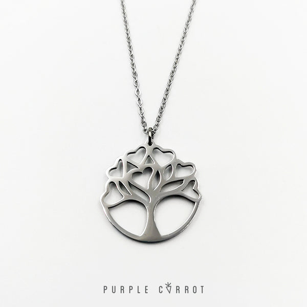 Heart Leaf Tree Necklace