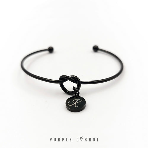Black Infinity knot Bangle