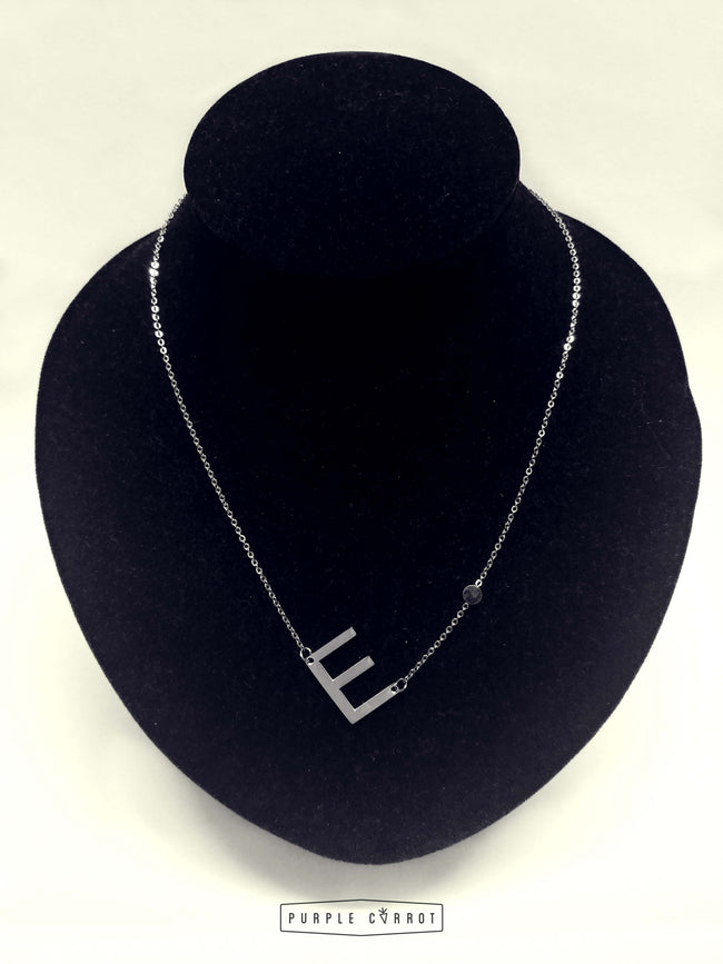 Tilted Initial Jewellery -silver Black Friday