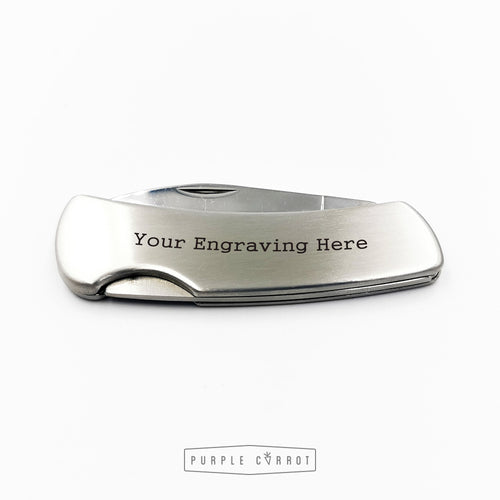 Brushed stainless steel Knife