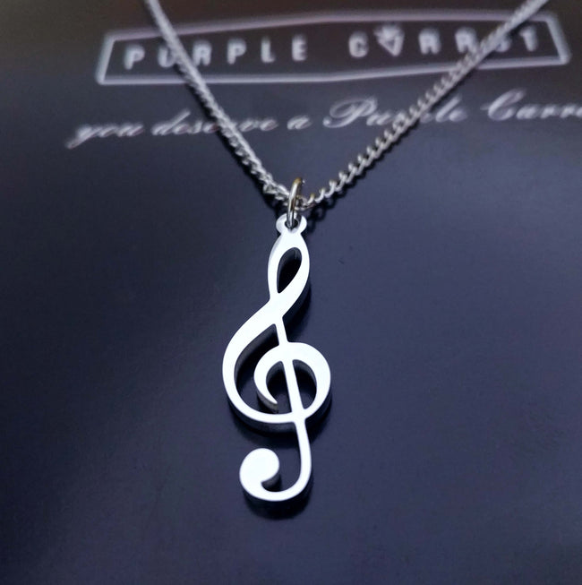 Music (Treble Clef) Necklace