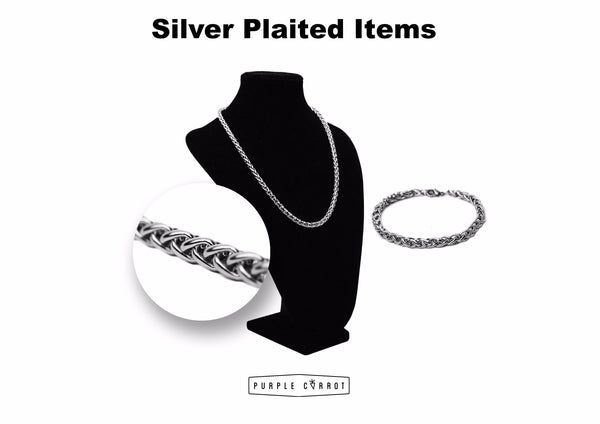 Silver Plaited Necklace