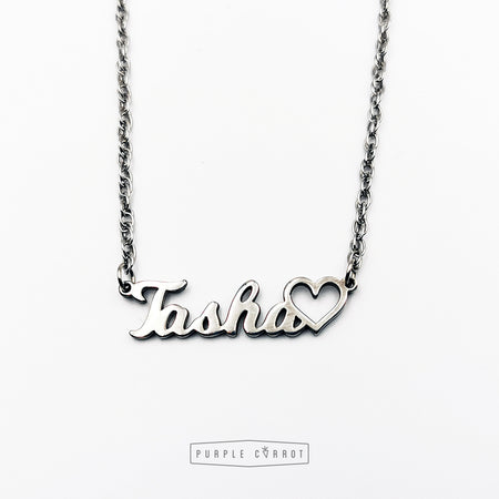 Custom Cross Cutout Name Necklace