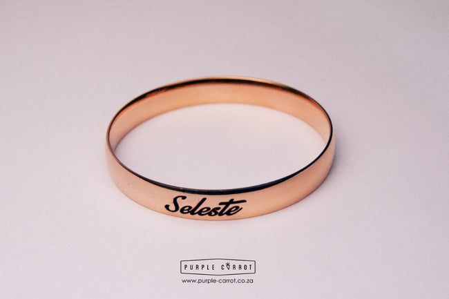 Solid Rose Gold colour Bangles 10mm