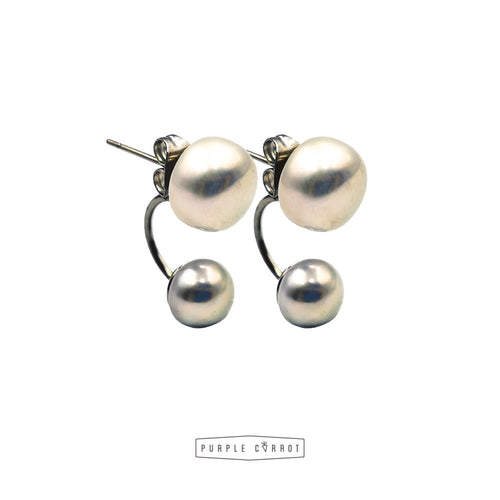 Freshwater Pearl Earrings - 2 in 1