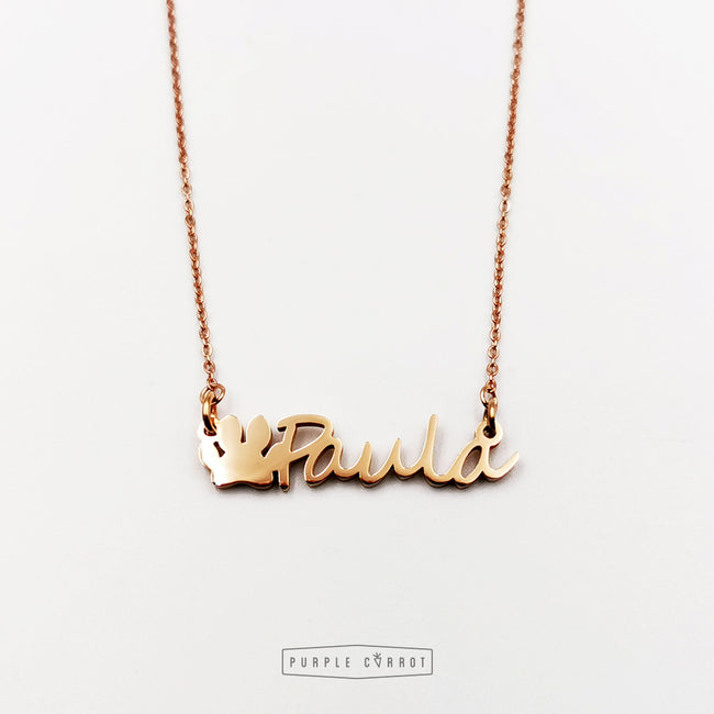 Rosegold Name necklace